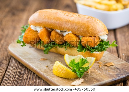 Fish finger stock images royalty free images vectors for Fish stick sandwich