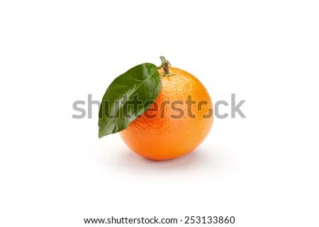 fresh mandarines isolated on white background - stock photo