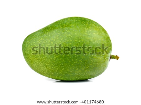 Fresh Mango , Green Mango isolated on white background. - stock photo