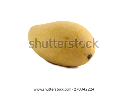 fresh mango isolated in white background with clipping path - stock photo