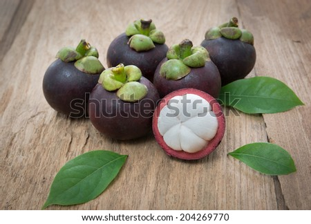 Fresh Mangosteen fruit  - stock photo