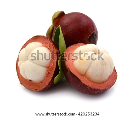 Fresh mangosteen sweet delicious fruit of Thailand