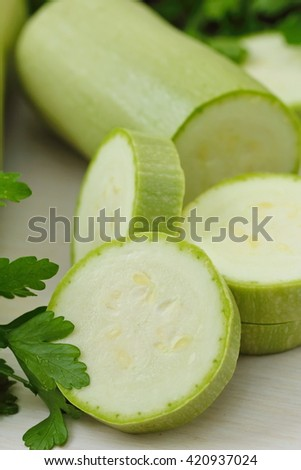 Fresh marrow and other vegetables for cooking - stock photo