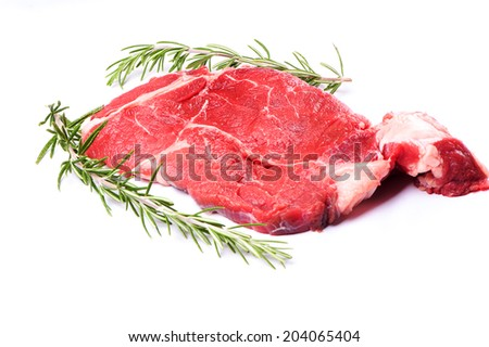 Fresh meat on white background