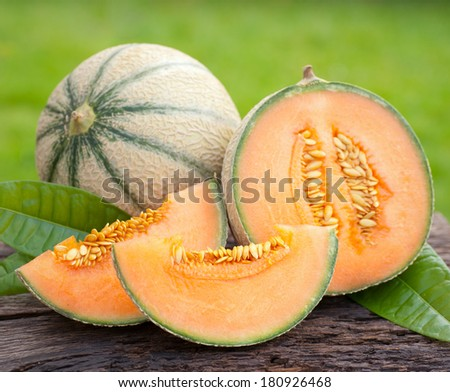 Fresh melons - stock photo