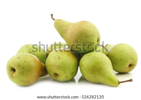 fresh migo pears on a white background