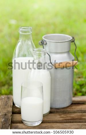 Fresh milk - stock photo