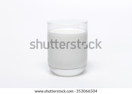 Fresh milk  a glass isolated white background.
