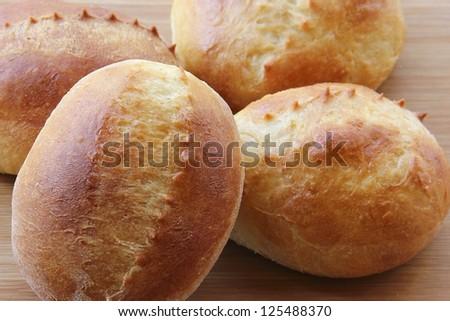 Fresh milk breads background. - stock photo