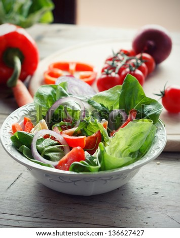 Fresh mixed vegetable salad