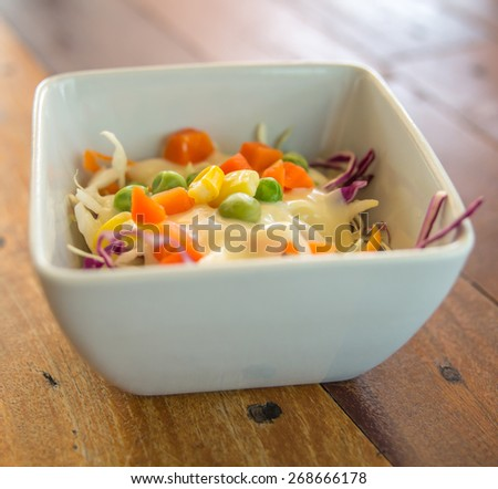Fresh mixed vegetables salad.
