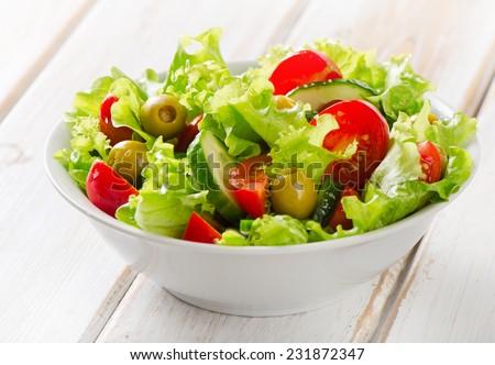 салат из свежих овощей с фото