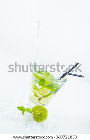 Fresh Mojito cocktail drink