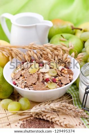 Fresh muesli - stock photo
