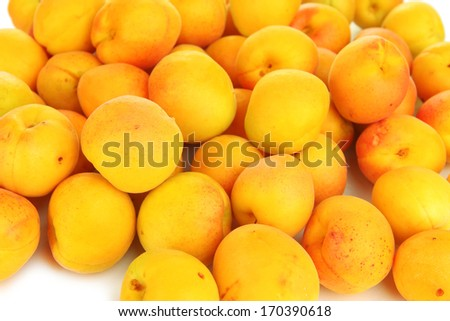 Fresh natural apricot close up