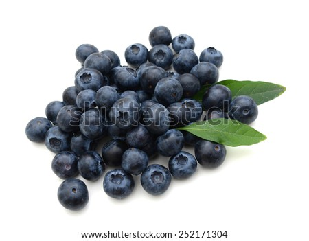 fresh natural blueberries in closeup - stock photo