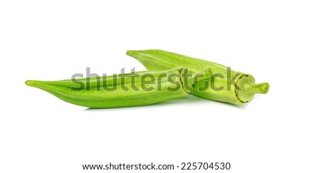 fresh okra isolated on a white background