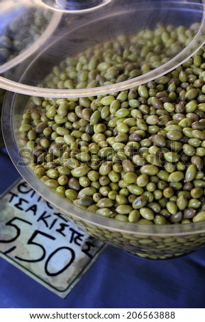 fresh olive at the market