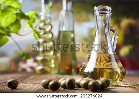 Fresh olive oil  - stock photo