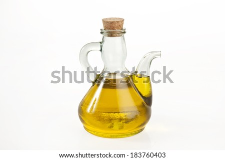 Fresh olive oil with clipping path
