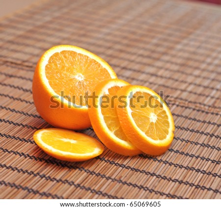 fresh orange - stock photo
