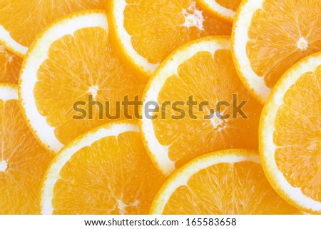 fresh orange and slices background