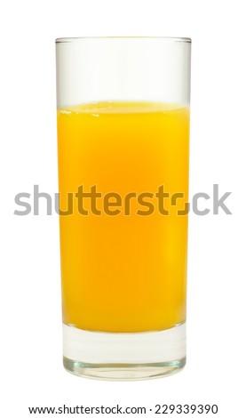 fresh orange juice isolated - stock photo