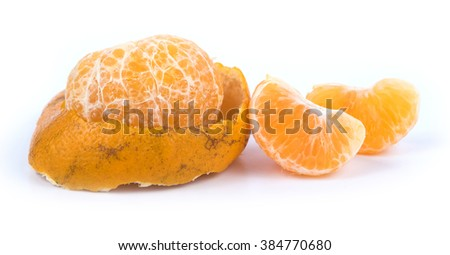fresh Orange on a white background