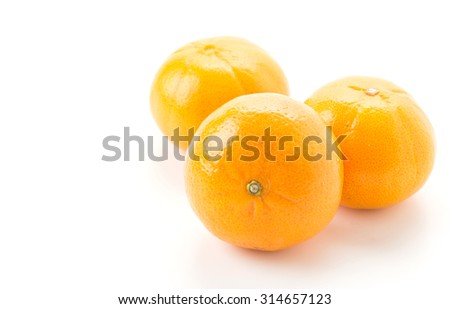 fresh orange on white background