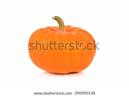Fresh orange pumpkin isolated on white background