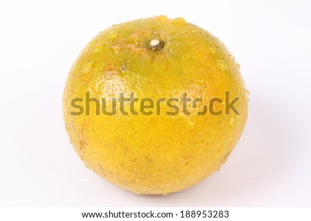 Fresh Oranges Harvest isolated on white background.