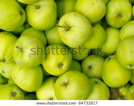 Fresh organic apples for sale at market.