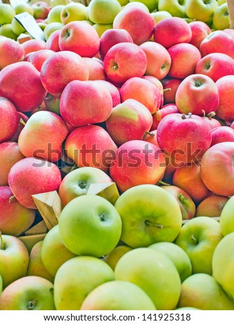 Fresh organic apples from Serbia - stock photo
