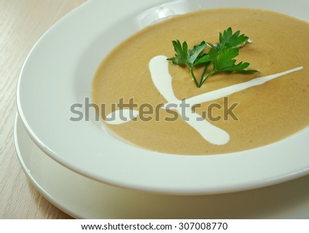 Fresh, organic pureed vegetables soup - stock photo