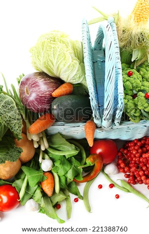 Fresh organic vegetables, close up - stock photo