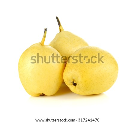Fresh oriental pear on a white background