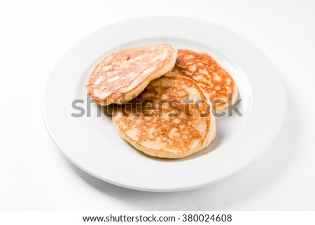 fresh pancakes - stock photo