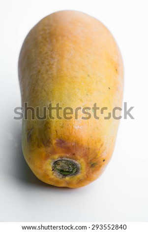 Fresh papaya on white background
