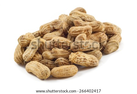 fresh peanut isolated in  white background with clipping path