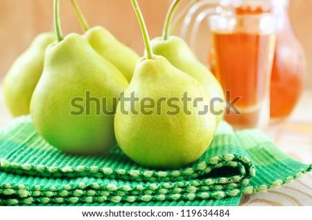 fresh pear - stock photo