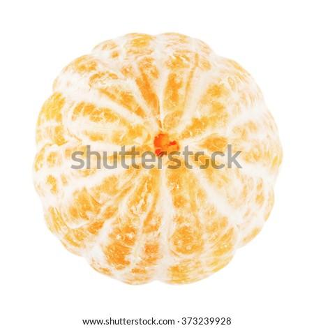 Fresh Peeled Mandarin - stock photo