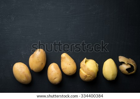 Fresh Peeled Potato - stock photo