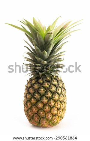 Fresh pineapple white background,isolate