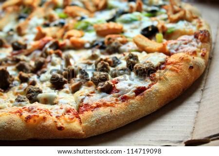 Fresh Pizza - stock photo