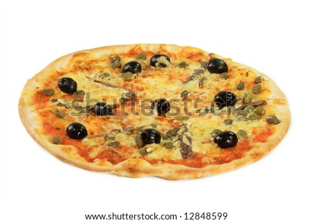Fresh Pizza - isolated on white background