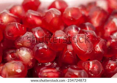 Fresh pomegranate seeds for food background