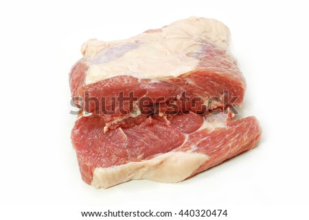 Fresh Pork isolated on white