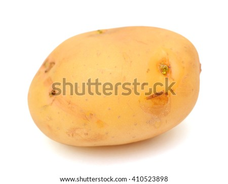Fresh potatoe isolated on white background
