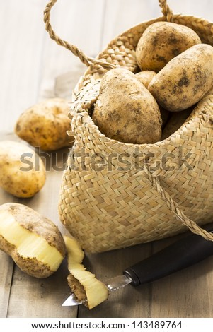 Fresh potatoes - stock photo