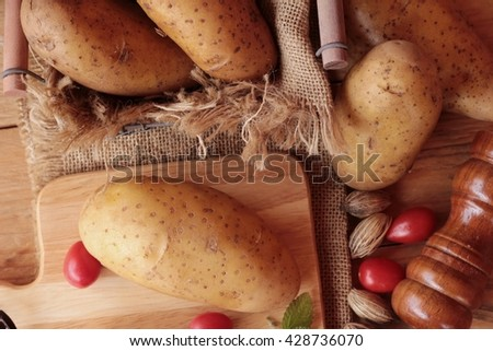 Fresh potatoes for cooking - stock photo
